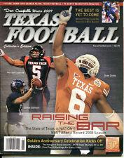 2009 Dave Campbell's Texas Football Mag Winter Michael Crabtree Raiders VG 22578