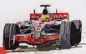 Lewis Hamilton McLaren Formule 1 Compté Cross Stitch Kit / chart (Aida  </span>