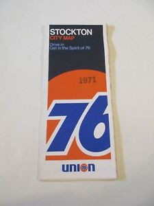 Details about Vintage Union 76 Stockton California City Street Gas Station  Travel Road Map