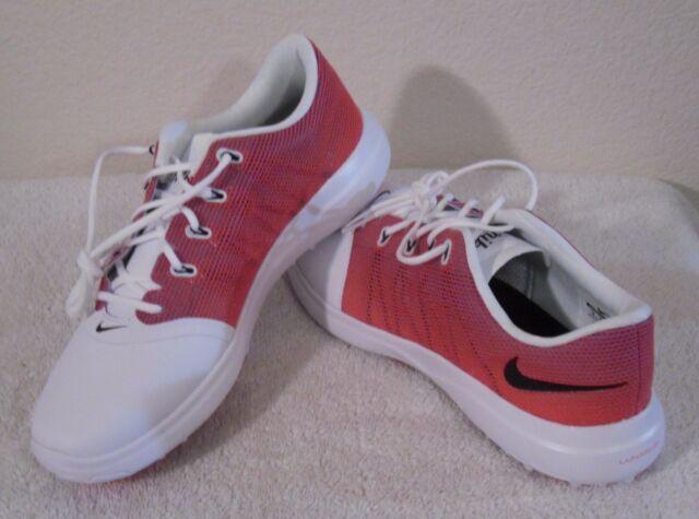 New Nike Lunar Empress 2 Womens Golf Shoes 6 White Bright Crimson Msrp 120 For Sale Online