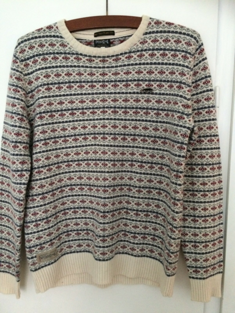 Sweater, Vintage CLTH, Jack & Jones, str. 36, Hvid, rød,…