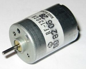 Mabuchi RF-130 Small Appliance DC Motor - 6 VDC - 8,100 RPM - RF-130CH-12250