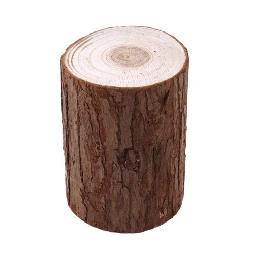 Wood Fir Tree Wooden Pile Base Stump Backdrop Festival Party Decoration CF