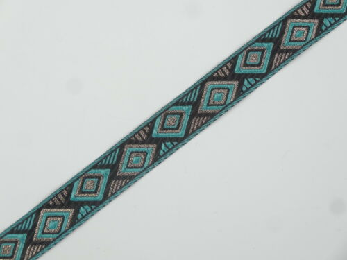 "01yd Jacquard Trim 01/"" wide Woven Border Sew  Ribbon Lace T639"