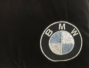 Black-Fleece-Blanket-With-Embroidered-BMW-Style-Logo-NEW
