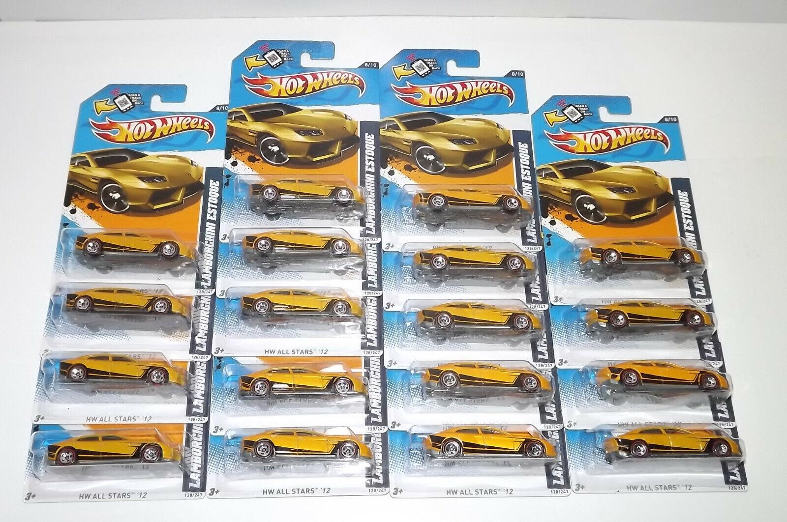 Lote de 18 Hot Wheels Lamborghini Estoque líneas rojas producto Exclusivo De Walmart