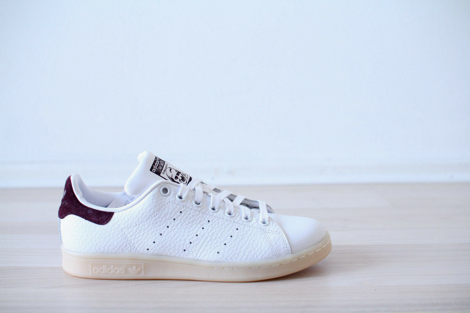 ADIDAS STAN SMITH PELLE BIANCO ROSSO TG. 38,39,40 NUOVO & OVP bz0487