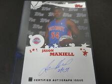 2005/06 Topps Rookie Photo Shoot Jason Maxiell 10x14 Photo Certified Autograph