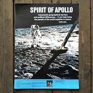 Original-APOLLO-XI-MOON-WALK-Spirit-of-Apollo-ASTRONAUT-Space-11-Poster-1969-NOS