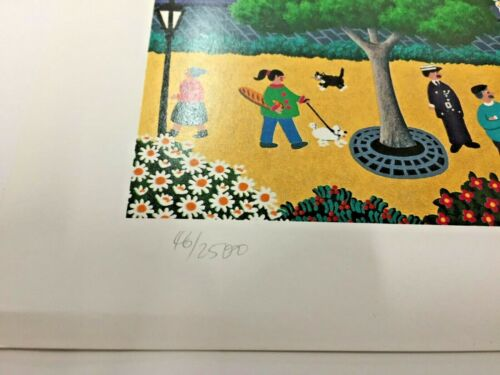 Signed Limited Edition ART Print Joanne Netting French Village xxxx//2500