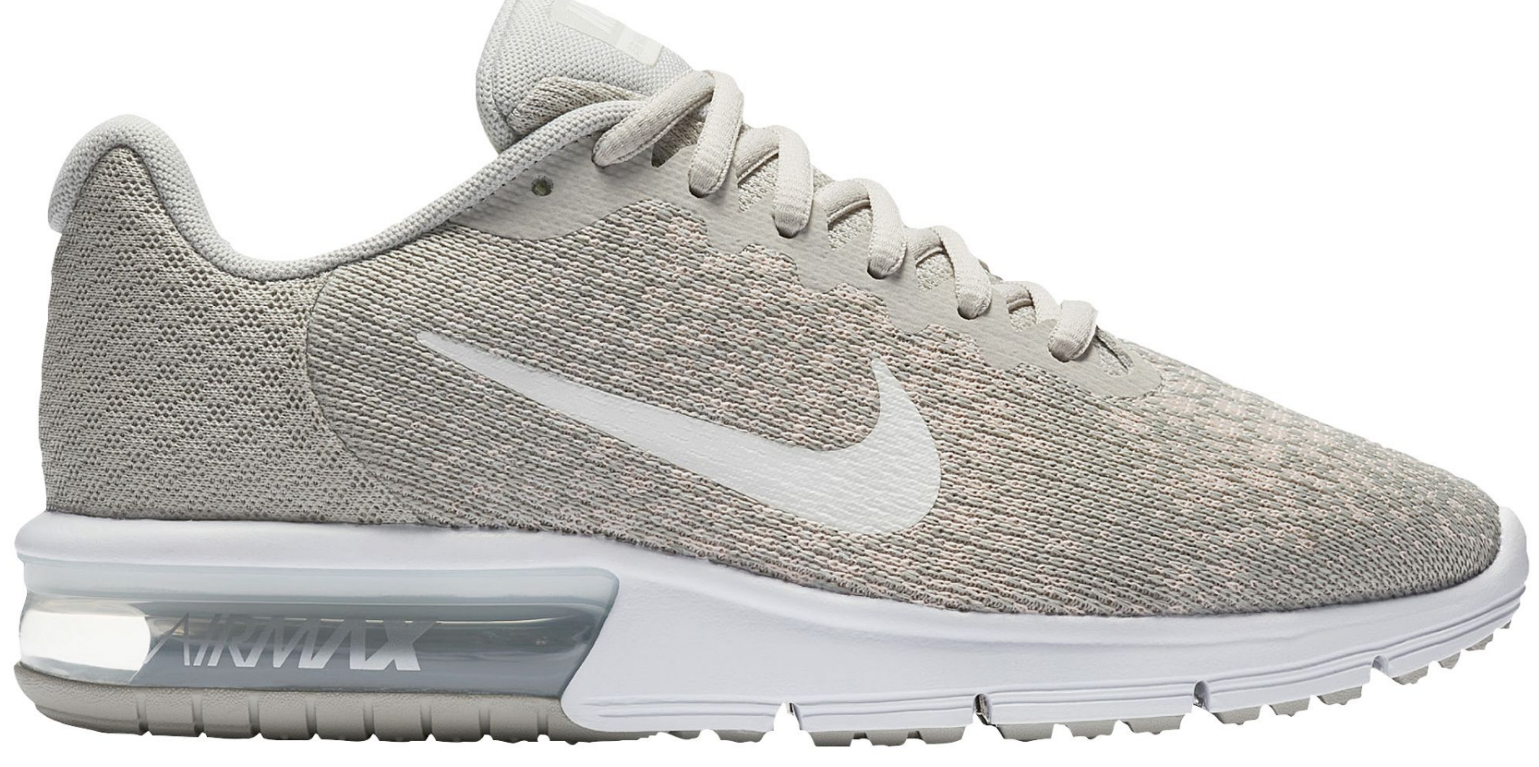 NIKE femmes AIR MAX SEQUENT 2 852465 011 SIZE 7.5 Pale Gris / Light Bone