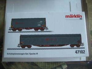 Marklin H0 46557 Ermewa Tank Car + 47102 Sliding Car Set - NIB - Era V