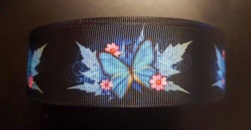 Borte Webband 2764 Schmetterlinge 38mm Breite Ripsband