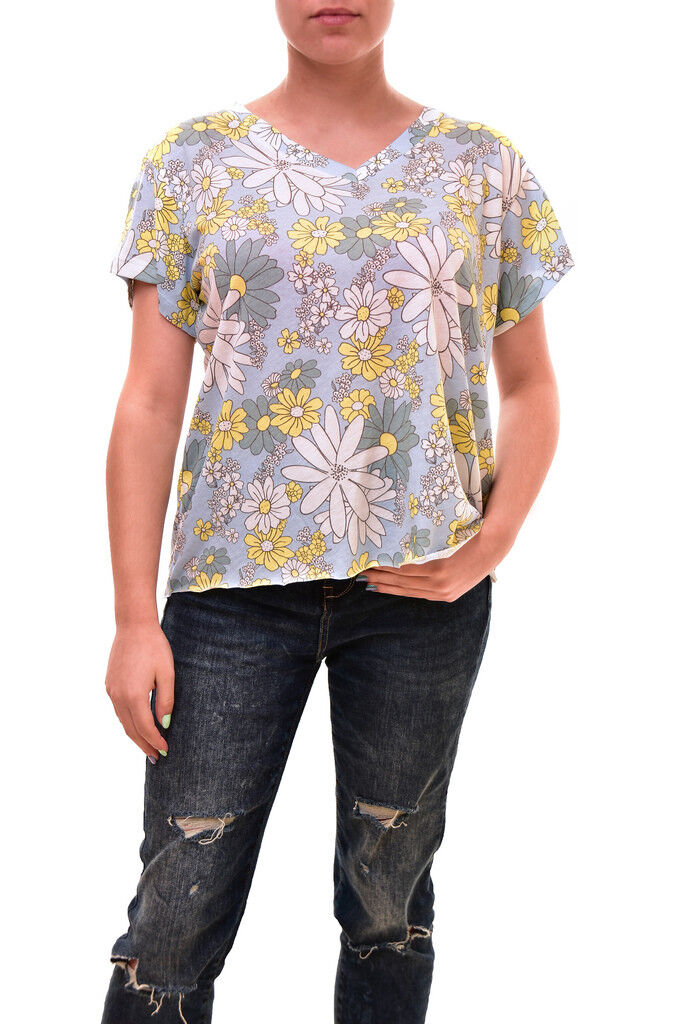 Wildfox Woherren Authentic Daisy Wallpaper Romeo Shirt Multi Größe S RRP  BCF83