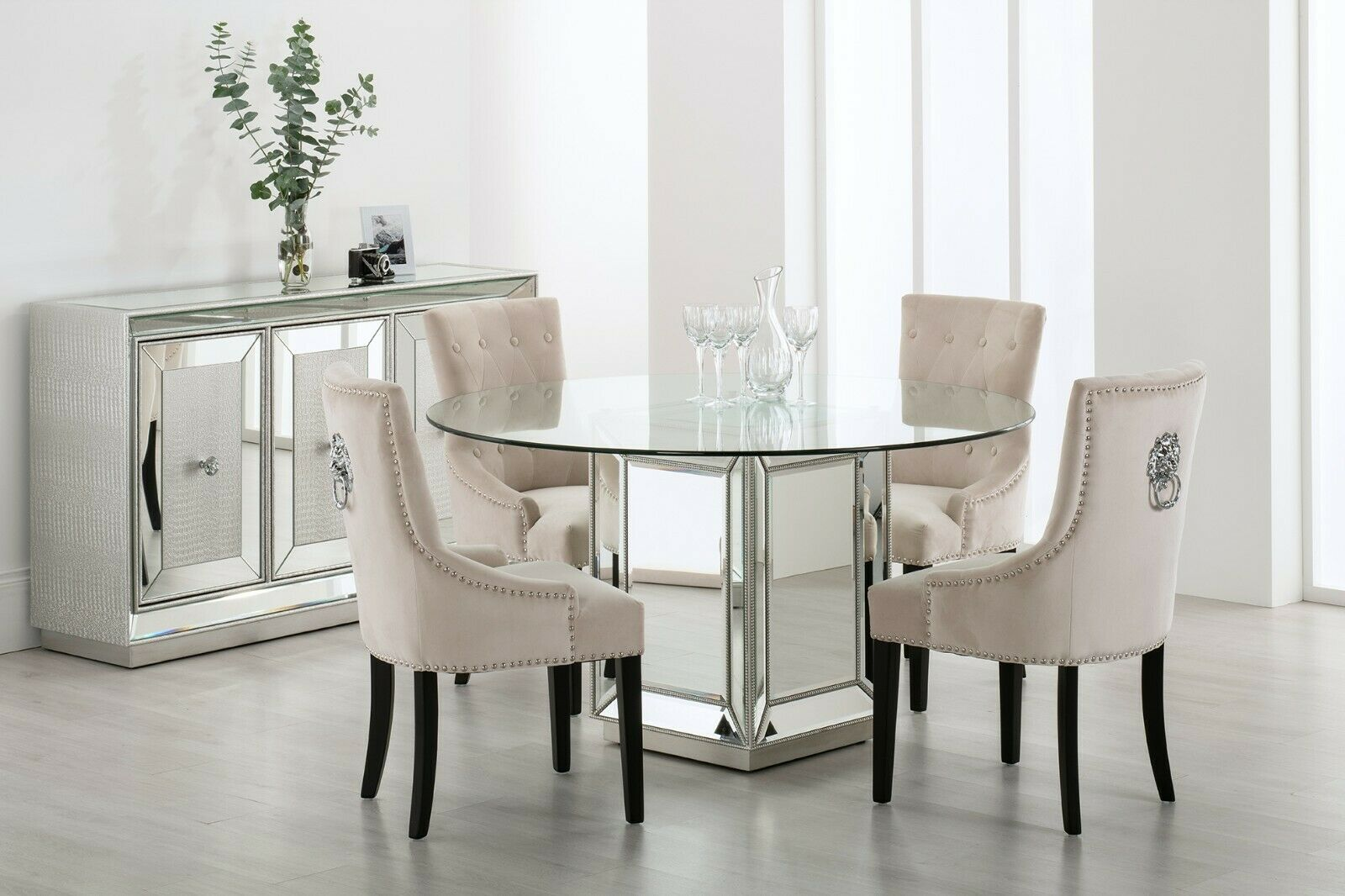 Mirrored Dining Table Vintage Antique Silver Glass Mirror Furniture Square Wood For Sale Ebay