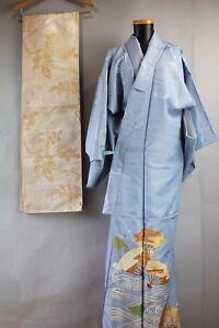 23f3598d6 Vintage Silk Iro Tomesode Kimono / Silk Fukuro-Obi set a1103 | eBay