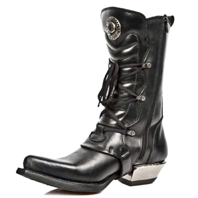 Newrock new rock 7993-C2 unisexe unisexe unisexe en cuir noir boucle goth dentelle haut fermeture éclair bottes | Les Produits De Base Sont  56e7b1