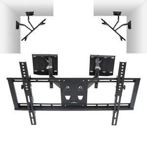 Tilt-Swivel-TV-Corner-Wall-Bracket-Mount-Motion-LCD-LED-40-42-46-48-50-55-60-65-034