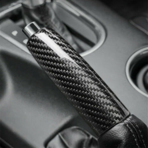 Luxury Carbon Fibre Car Handbrake Grip Cover Trim For Ford Mustang 2017 2018 19