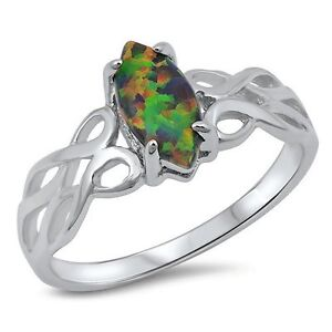 Opal Celtic Knot Ring