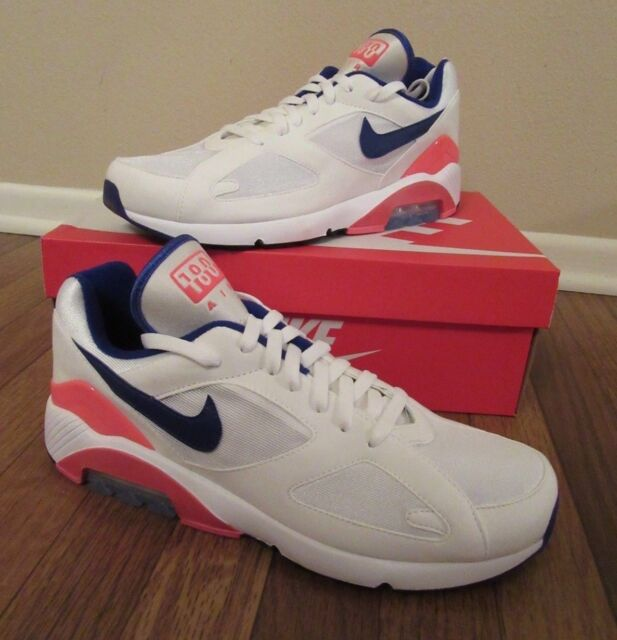 timeless design 43ef7 7d914 Nike Air Max 180 Size 11.5 White Ultramarine Solar Red 615287 100 Brand New  NIB