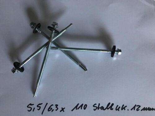 ISO Paneele verschiedene Varianten Stahl-UK 12 mm Sandwichplatten Schrauben f