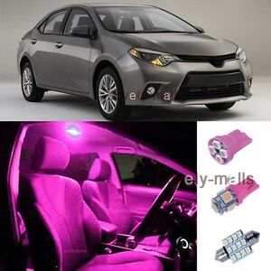 Pink smd car blub light interior led package 6x kit for - 2015 toyota corolla interior lights ...