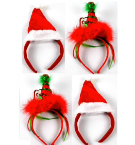 Christmas Headband Png.Details About 4 Piece Christmas Headband Santa Elf Hats Office Party Dress Accessories Set