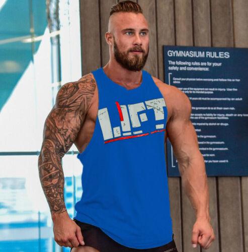 gym men sleeveless shirts tank top Fitness shirt  Bodybuilding workout  vest