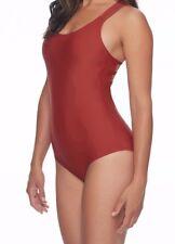 Body Glove 0222 Smoothies Mona One Piece Halter Black Plum Womens Swimsuits Sz M