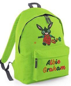 Image Is Loading Personalised Bing From Cbeebies Design Rucksack Backpack School