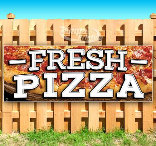 FRESH PIZZA Advertising Vinyl Banner Flag Sign Many Sizes CARNIVAL FAIR FOOD USA