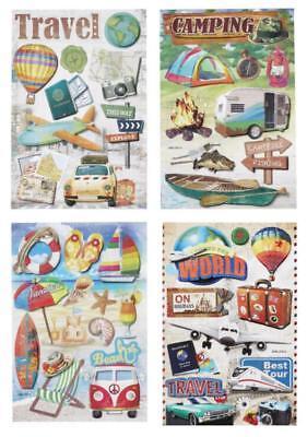 3 D-Sticker Urlaubs-Reise Bogen 18,5 x 12,5cm