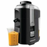 NEW! Black & Decker JE2200B 400-Watt Fruit and Vegetable Juice Extractor, Black