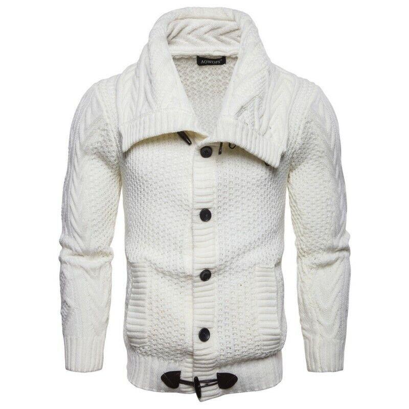 Spring Mens Weave Cardigan Coat Lapel Botton Outwear Tops European Bt15