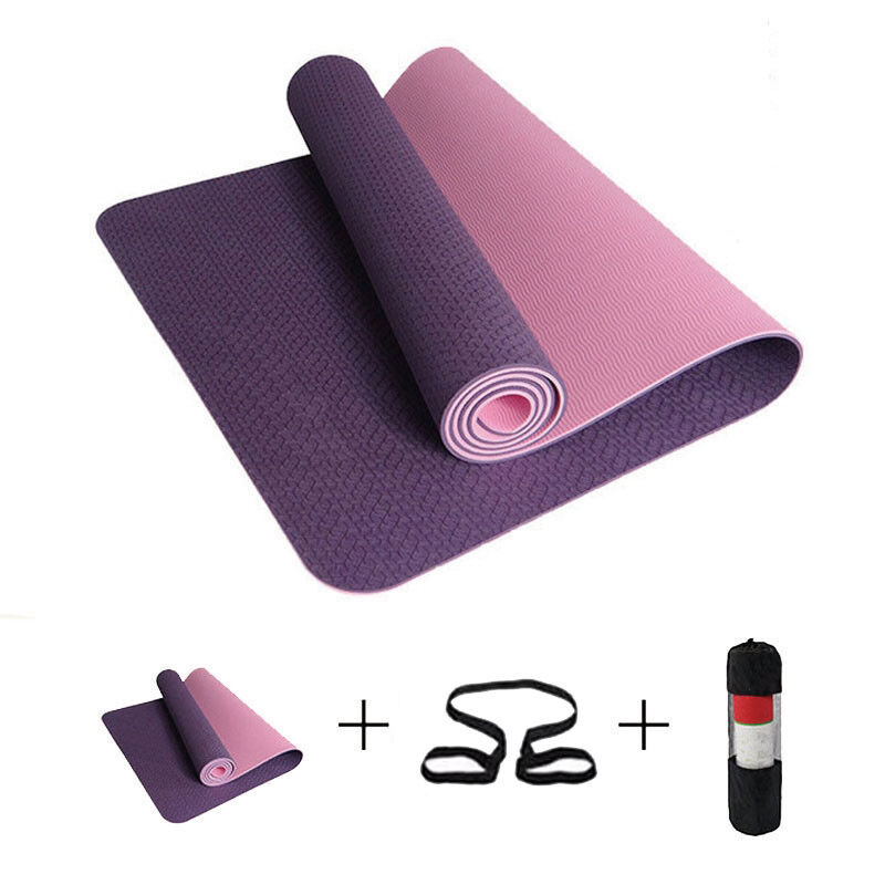 Non-Slip Yoga Mat Fitness Gym Pilates Pad Indoor Outdoor Sport Exercise 6mm Mats