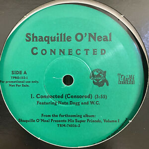"""SHAQUILLE O'NEAL - CONNECTED (12"""")  2001!!!  RARE!!!  NATE DOGG + W.C.!!!"""