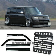 For 04-06 Scion xB Toyota bB Mugen style Window Visor + Tow Hook License Plate