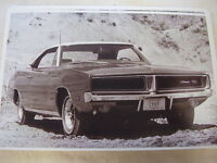 1969 Dodge Charger R/t Rt 11 X 17 Photo Picture