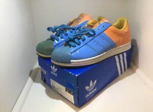 adidas superstar blue orange