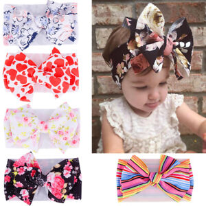 Baby-Girl-Knot-Headband-Print-Bow-Toddler-Stretch-Turban-Head-Wraps-Headwear