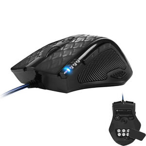 Sharkoon-Drakonia-Black-Gaming-Laser-Maus-8200dpi-11-Tasten-Gewicht-anpassbar