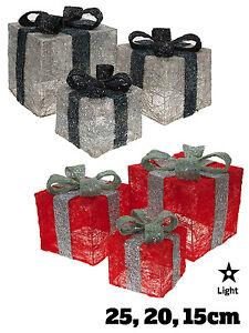 Scatole-regalo-di-natale-luce-3-presenta-Natale-LED-Decorazione-degli-appartamenti-BATTERIA-OP