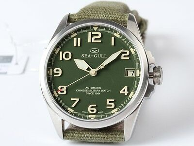 New SEA-GULL D813.581 Chinese Military Watch Since 1964
