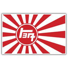 TOYOTA TEQ Adesivo Bandiera Giapponese Sole Nascente 100mmx 65mm JDM JAP Bruciatore di riso
