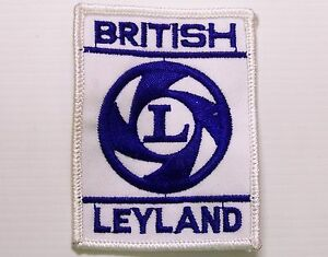 BRITISH-LEYLAND-EMBROIDERED-PATCH-WOVEN-CLOTH-BADGE-SEW-ON-MOTORING-COMPANY-BLMC