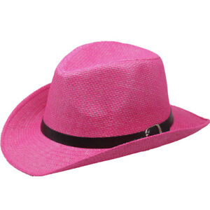Caricamento dell immagine in corso Donna-Cappello-da-Cowboy-Rosa-Western -Uomo-Estate- fe6bf4211a94
