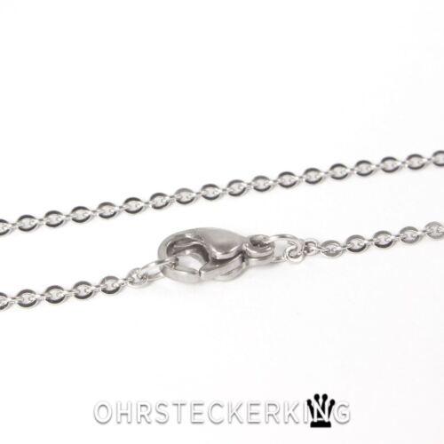 Edelstahl Kette  Halskette 44 cm//1 mm Neu