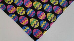 Dog-Bandana-Scarf-Tie-On-Easter-Eggs-Spring-Custom-Made-by-Linda-xS-S-M-L-xL