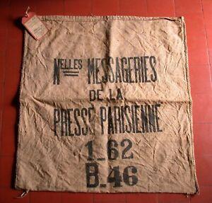 Sac en TOILE de JUTE  1962   Nouvelles MESSAGERIES de la PRESSE PARISIENNE